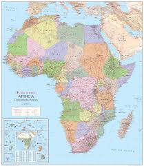 World Map Of Africa by Physical Political Map Of Africa 2006