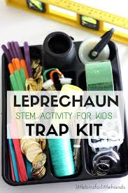 leprechaun trap kit for kids st patricks day stem activity