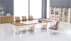 China Modern Design Rectangular Conference Table Wooden Boardroom