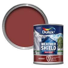 dulux weathershield exterior monarch red gloss wood u0026 metal paint