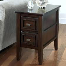 Narrow End Tables Living Room Brilliant Small End Table With Drawer Hermelin Narrow End Table