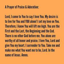 a prayer of praise and adoration biblelovenotes