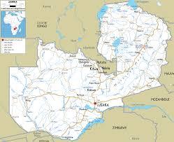 map of zambia detailed clear large road map of zambia ezilon maps