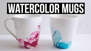 Coffee Mugs Design Diy Watercolor Marble Coffee Mugs Youtube