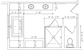 Bathroom Vanity Standard Sizes by Delighful Master Bathroom Dimensions Design Sizefree Floor Plan