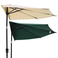Umbrellas Patio 10ft Outdoor Patio Half Umbrella Wall Balcony Bistro Door Sun