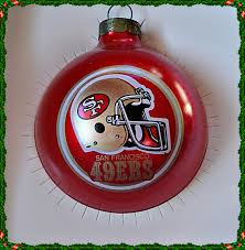 san francisco 49ers this is a glass ornament by topperscot inc it