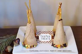 cupcake cutiees thanksgiving teepee treats fun kids food craft