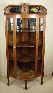 Narrow Mahogany Bookcase by China Cabinet Small Narrow Mahogany Corner China Cabinet Antique
