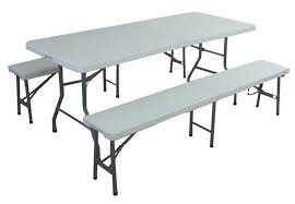 folding table and bench set folding table and chairs for picnic
