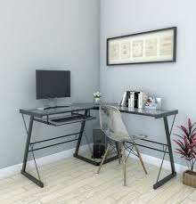 Home Office L Shaped Computer Desk by Madison L Shaped Computer Desk In Black Inside Madison Clear Glass