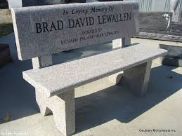 Commemorative Benches Memorial Benches Gaulden Monuments