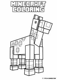 minecraft horse coloring page printable minecraft coloring