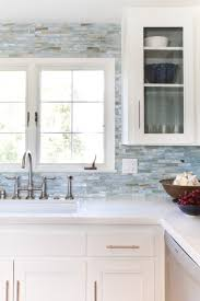 glass mosaic backsplash agate in lucca pearl by lunada bay tile