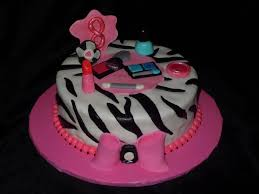 girly makeup zebra stripe cake cakecentral com