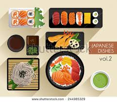 illustration cuisine vector sushi food illustration free vector stock