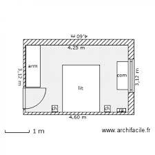 plan chambre a coucher chambre à coucher plan 1 pièce 12 m2 dessiné par 94