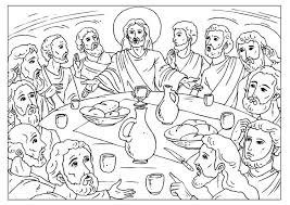 Coloring Page Last Supper Img 25923 Last Supper Coloring Page