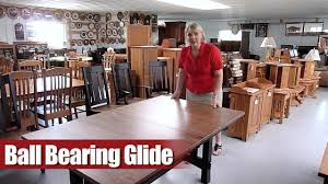 Dining Room Table Slides How Ball Bearing Slides Operate And Look In A Table Youtube