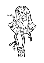 monster high coloring pages frights camera action monster high cleo coloring pages get coloring pages