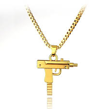 pendant l with chain 2018 new li l uzi 18k gold plated pendant with quality gold