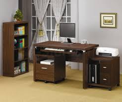 Oak Desk Type Narrow Computer Desk Furniture Corner White Glossy Narrow