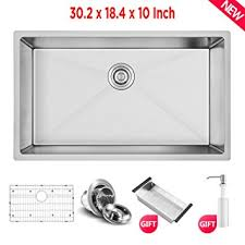 18 10 stainless steel kitchen sinks commercial 30 inch 10 inch deep stainless steel kitchen sink