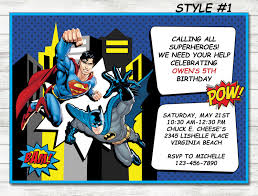 colors simple superman birthday party invitation wording hd