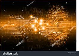 dark orange color light abstract technology stock vector 340982954