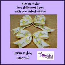 sided ribbon to make an easy bow with one sided printed ribbon