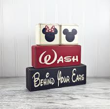 mickey and minnie wood bathroom blocks children u0027s bath u2022 apple