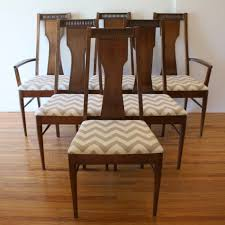 Broyhill Dining Table And Chairs Mid Century Modern Dining Chair Set By Broyhill Upholstered With