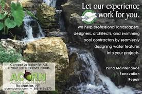 Aquascape Water Features Certified Aquascape Pond Service Contractors Rochester Ny Acorn