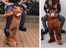 Brown Bear Halloween Costume Carry Teddy Bear Ride Piggy Mascot Halloween Costume