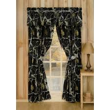 Realtree Shower Curtain Ap Black Camo Window Treatment By Realtree Rustic Camo Curtains
