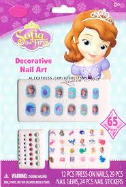 aliexpress buy nail sticker sofia princess cartoon kid nail