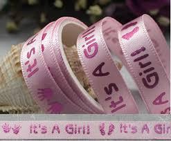 satin ribbon bulk wholesale bulk lot pink it s a girl satin ribbon diy baby shower