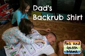pink and green mama homemade father u0027s day gift backrub t shirt