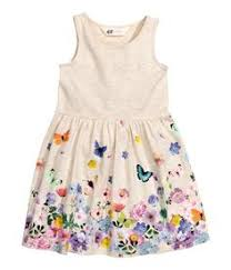 patterned jersey dress light beige melange kids h u0026m us