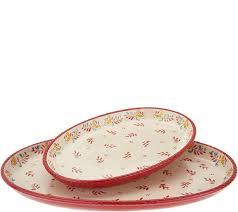 painted platter valerie bertinelli 2 painted platter set qvc