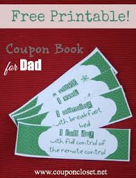 free christmas coupon book printables for mom and dad dads