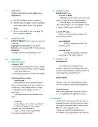 identify sentence pattern english grammar lesson plan basic sentence pattern