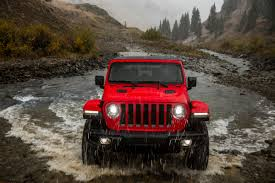 huge jeep wrangler behind the wheel of the all new 2018 jeep wrangler maxim