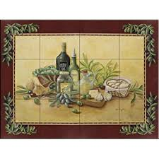 tile murals for kitchen backsplash ceramic tile mural buon appetito 2 by nicky boehme kitchen