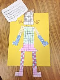 students create an area and perimeter robot using a task card with