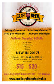 canadian thanksgiving dates lasalle craft beer festival tickets multiple dates eventbrite