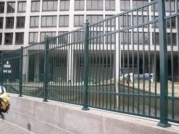 manassas va commercial ornamental aluminum fence hercules fence