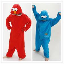 Halloween Costumes Sesame Street Aliexpress Buy Sesame Street Cookie Monster U0026 Elmo Jumpsuit