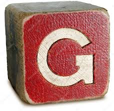 photograph of red wooden block letter g u2014 stock photo ronjoe