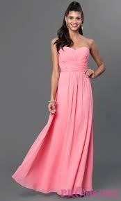 strapless long chiffon prom dress promgirl